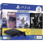 Sony PlayStation 4 Slim 1Tb Black + Detroit + Horizon Zero Dawn + The Last of Us